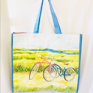 NEW Bicycle Theme Large Size Shopping Tote Bag